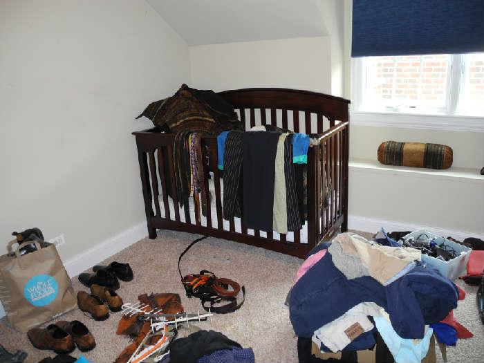 Brand new crib (slept in one time). Great condition, also turns into a youth bed.