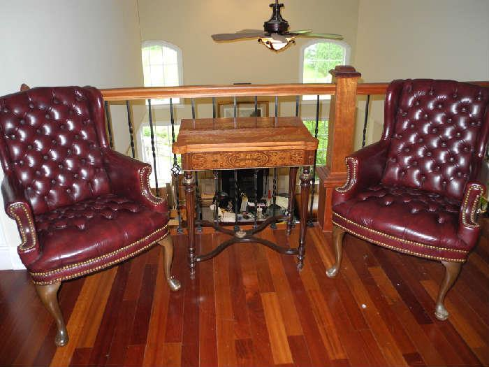 Convertible card table, 19th Century from England, originally from a home in Savannah, GA.