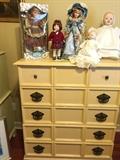 painted designer wood chest