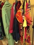 Designer dresses, summer shirts, blouses, and swim suit covers,suede dress coat