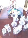 Crystal candle holders, red  crystal ,