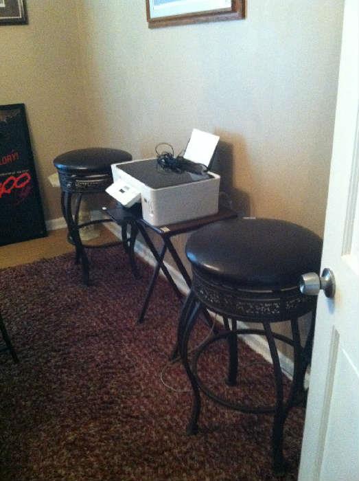 Dell printer, bar stools