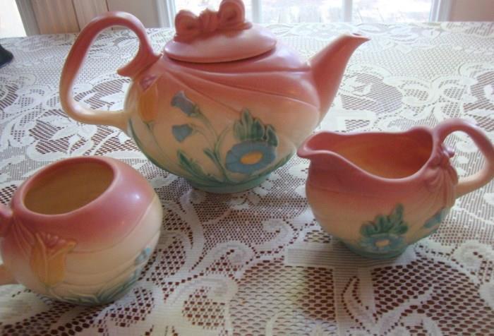 Hull Pottery Bow Knot Tea Set