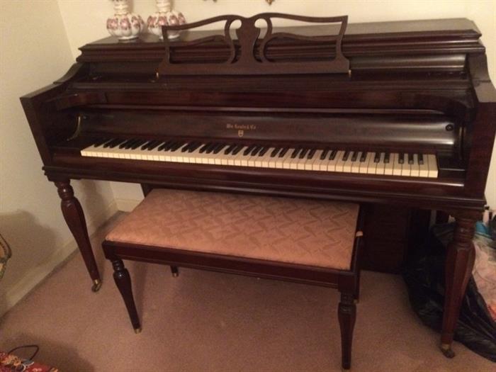 Knabe upright Piano and bench