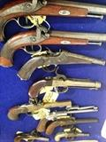 pair French dueling pistols, a solid collection old pistols
