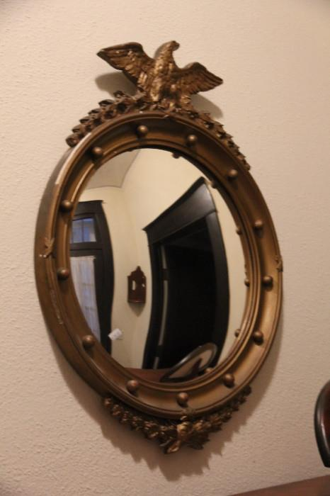 mirror with eagle finial