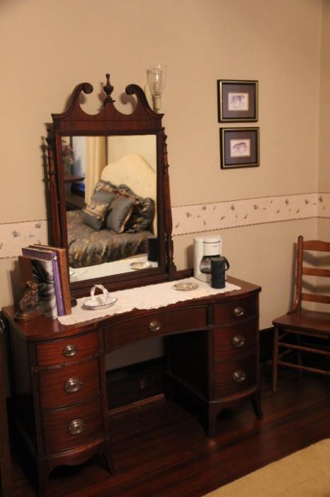 1940s mahogany vanity