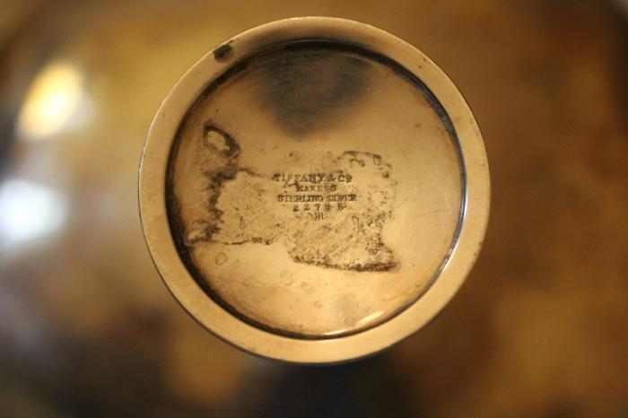 Tiffany & Co. mark on sterling compote