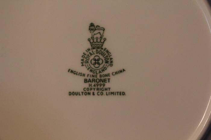 Royal Doulton Baronet pattern
