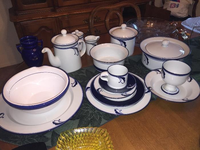 Service for 10  Dansk Dinnerware w/Serving Pieces