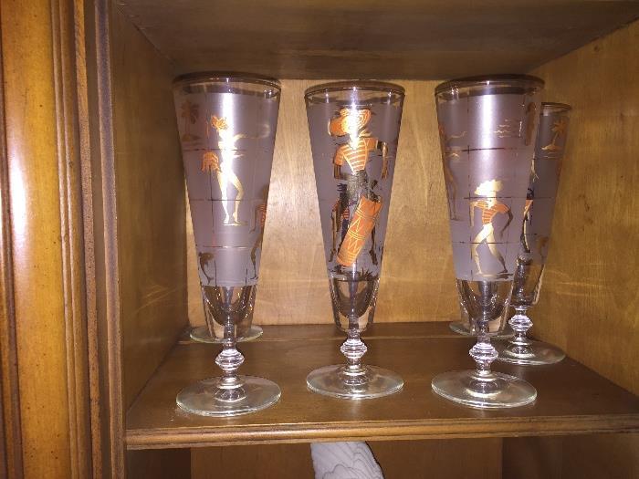 1950s Vintage Pilsner glasses