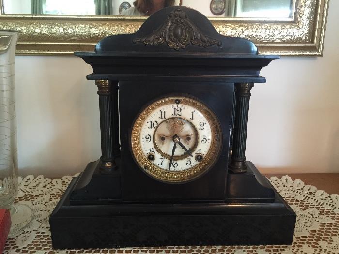 Antique Ansonia Mantel Clock w/Keys