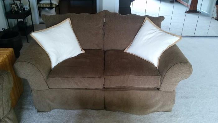 Here's the matching love seat, perfect for movie night!