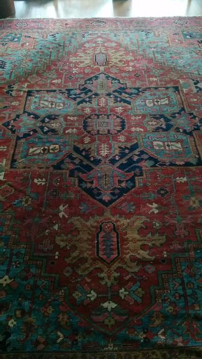 Another shot of the STUNNING Persian Serapi rug, 10' x 14'