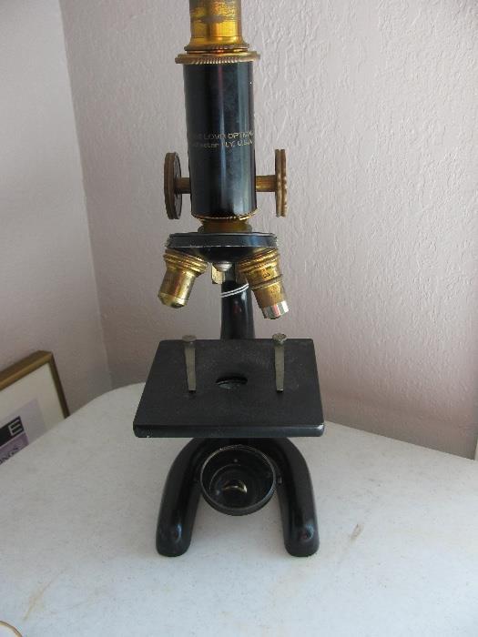 Vintage Lab Microscope