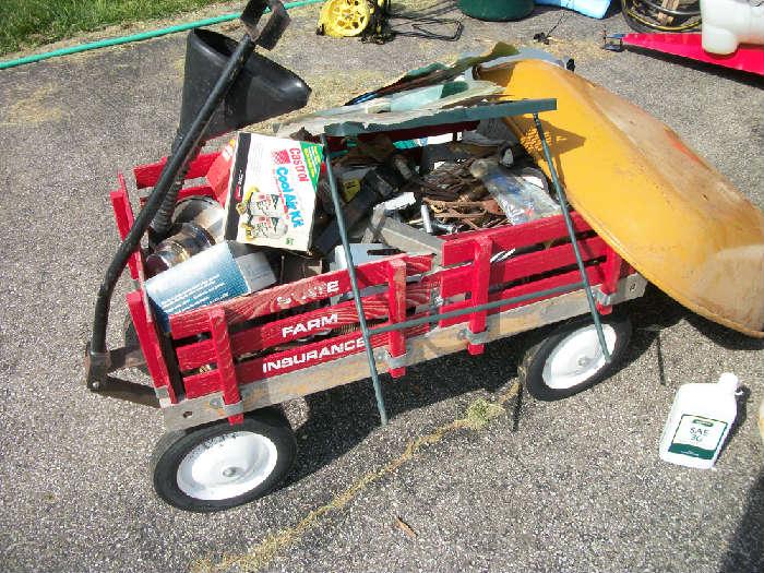 red wagon w/sides