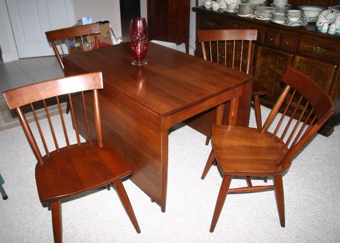 Cherry Drop leaf Table and Chairs