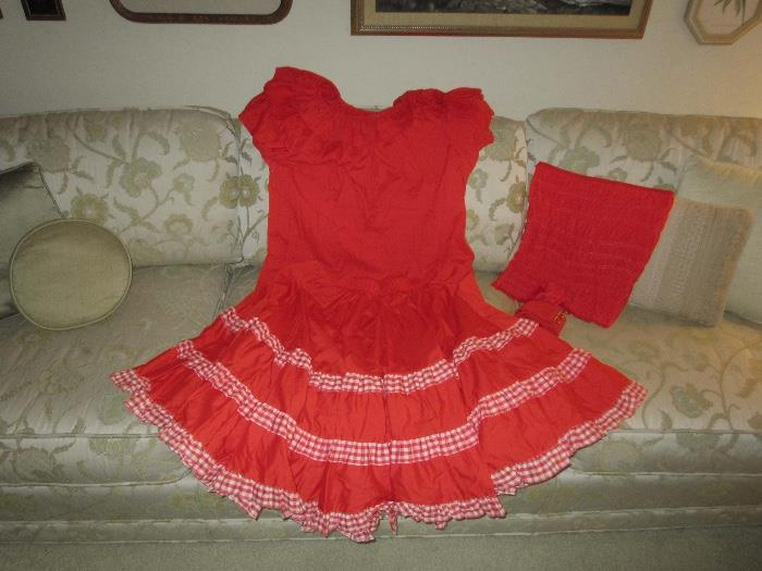 Vintage square dance outfits