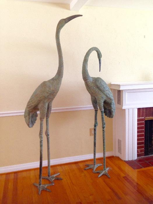 OVER 6 FT TALL! BEAUTIFUL METAL BIRDS!