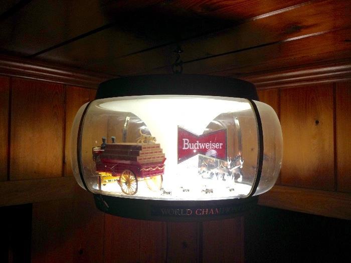 Vintage Budweiser Carousel Light