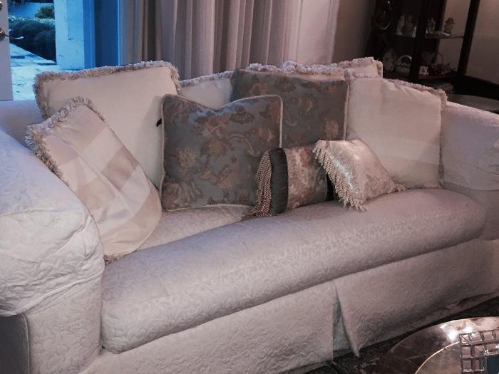 PAIR OF DESIGNER SOFAS