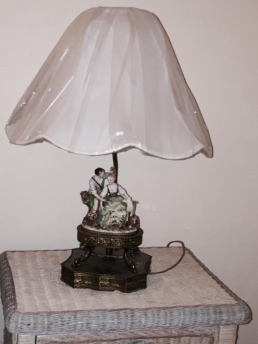 VINTAGE GERMAN FIGURAL LAMPS