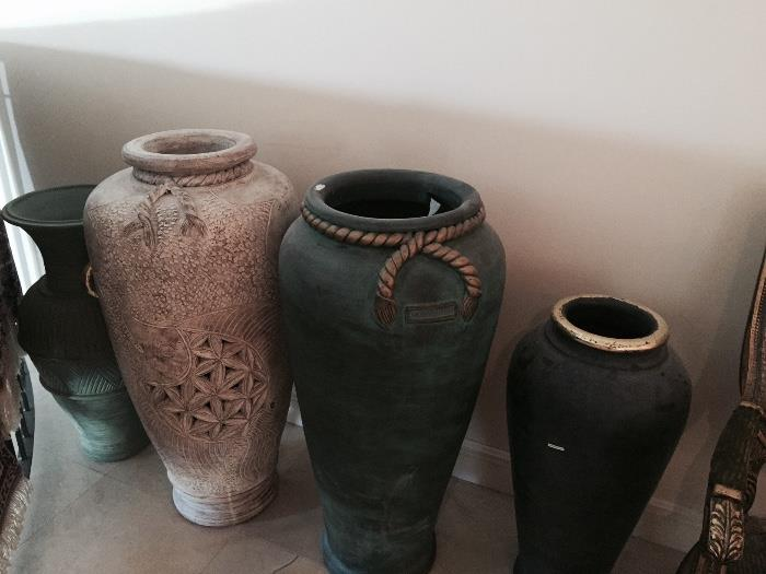 ASSORTED HUGE VASES