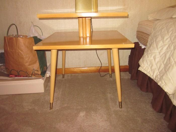 Great mid-century end table.   Great piece, lousy picture.  Made by James-Phillips in Patterson.