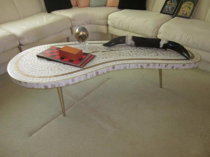 Very Cool Mid-Century Mosaic Tile Coffee Table.