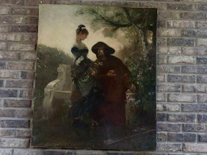 ORIGINAL PAINTING BY FLORENT WILLEMS 1823-1905 VERY RARE.