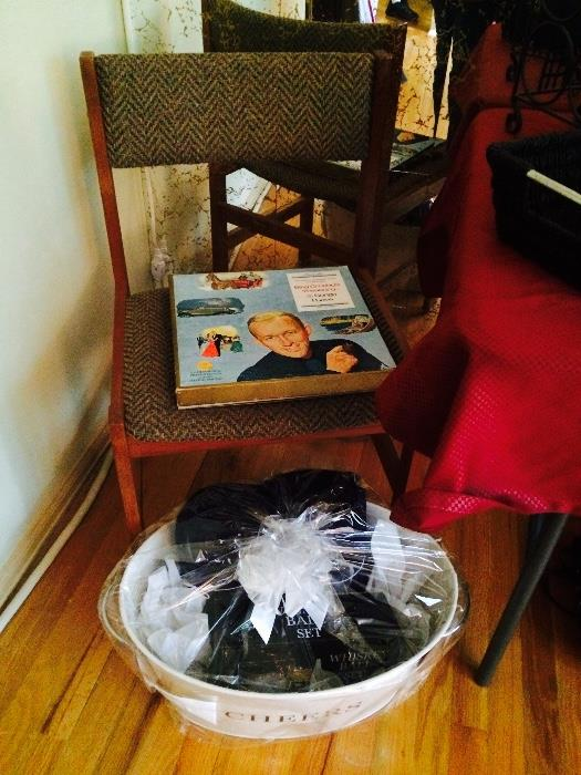 Side Chair, Gift Basket with Tin Ice Bucket & More, Record Set