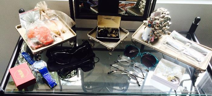 Sunglasses, Costume Jewelry, Cuff Links, Watches and More