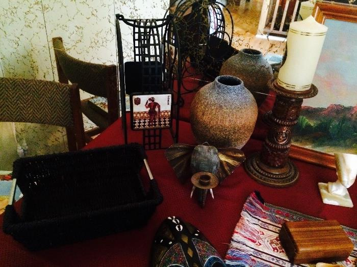 Elephant Head Candle Holder, Basket, Wine Holder