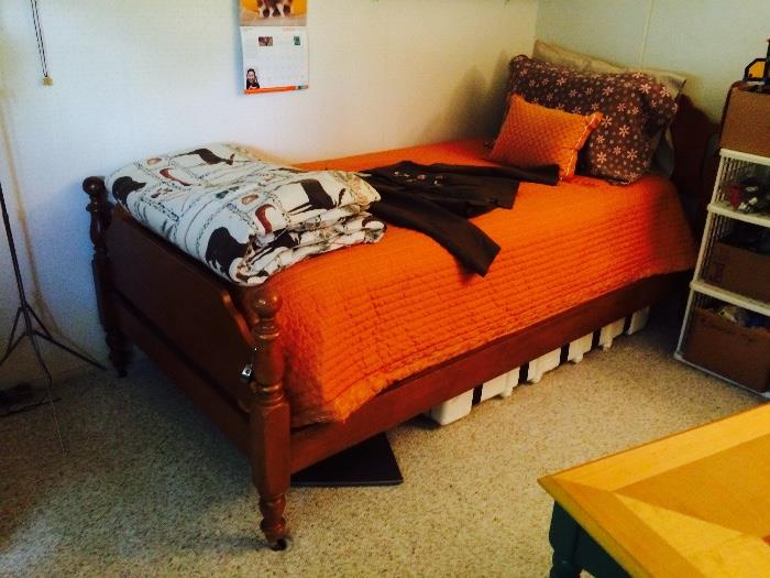 Twin Bed, Vintage Linens & More