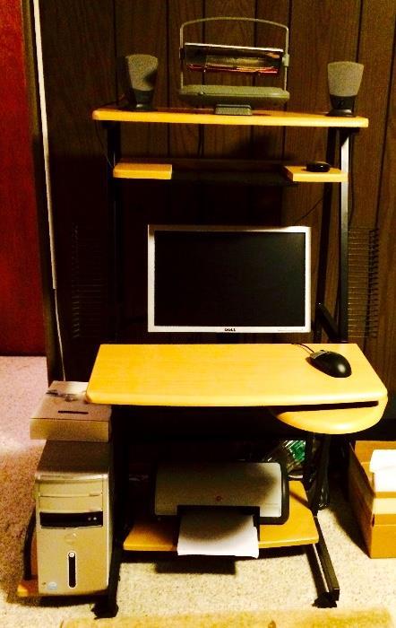 Dell Desktop Computer (Manufacture Reset and Includes Original Disks), Computer Desk and More