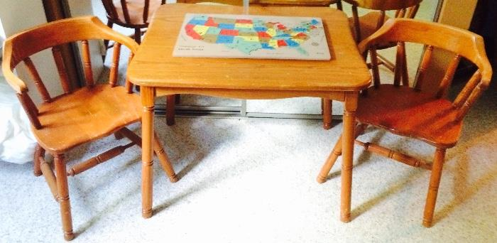 Child's Table with Two Matching Chairs