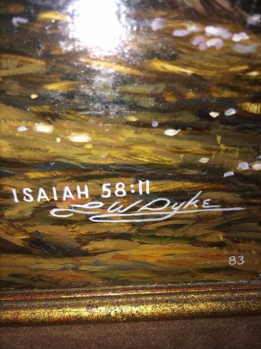 Larry Dyke's Isaiah 58:11 framed art