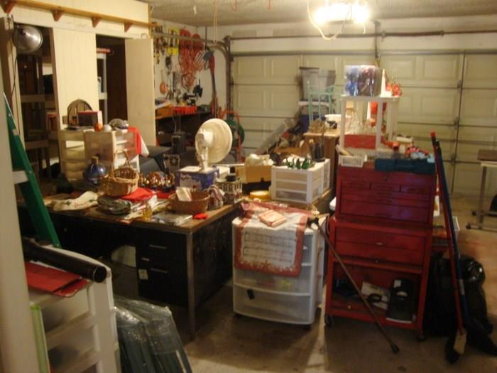 tool box and garage misc