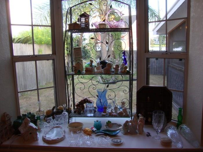 Colored Glass, Figurines and Misc