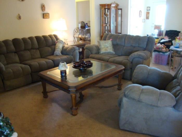 Sofa, Love Seat, Recliner, Coffee Table