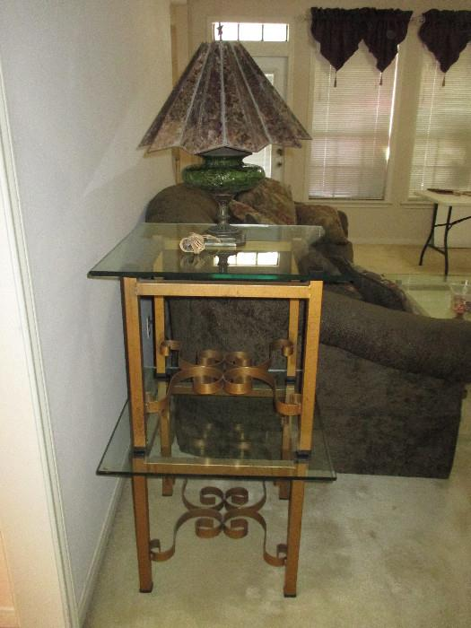Nice End Tables, Vintage Lamp