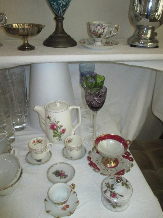 Tea Cups, Cut to Clear Wine Glasses