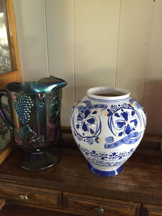 carnival glass pottery