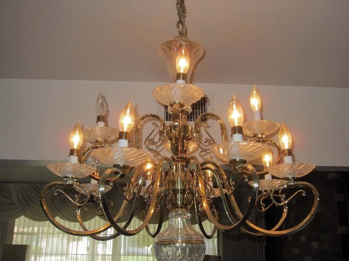 2 crystal chandeliers for sale