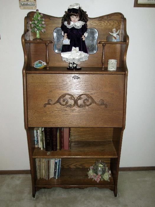 Antique secretary drop front desk