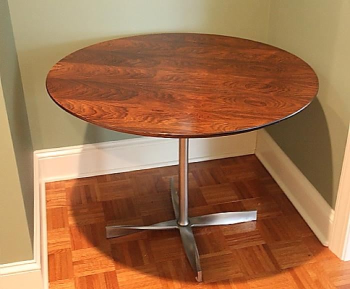 Vintage Danish Modern dining table, rosewood, by Heltborg.