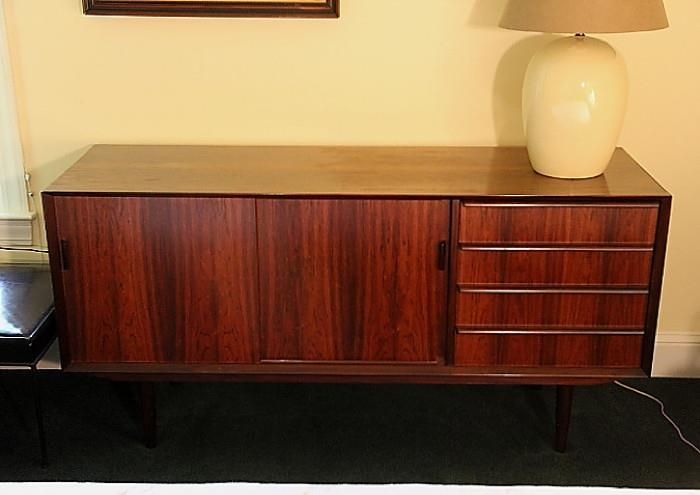 Horsnaes Danish Modern rosewood dresser (could be used in any room in the house)