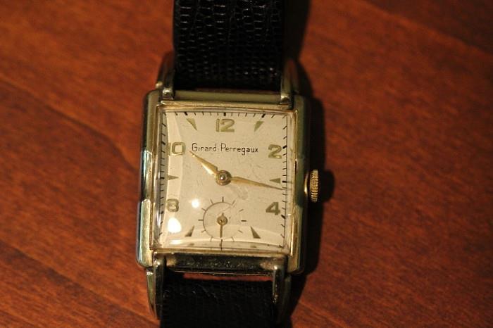 vintage Gerard Perregaux gold-filled wristwatch