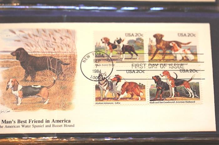 Man's Best Friend in America stamp series from 1984