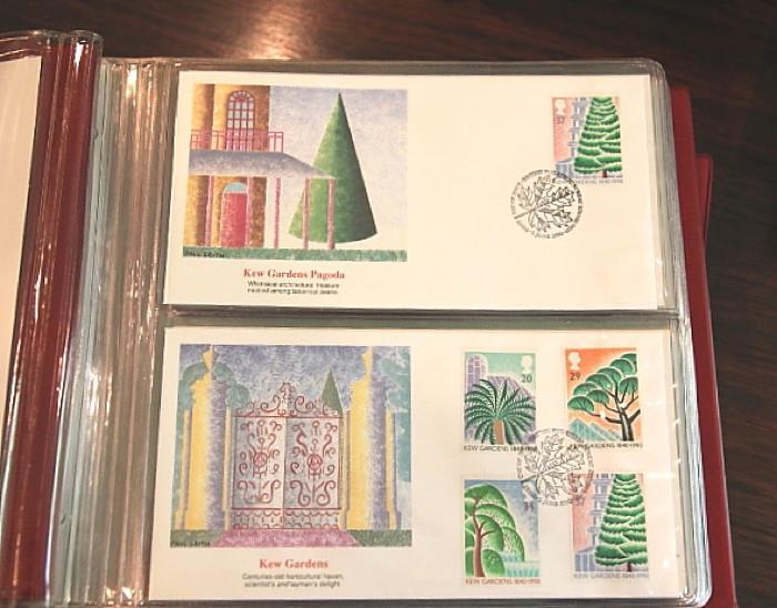 Kew Gardens postage stamp, beautiful envelopes
